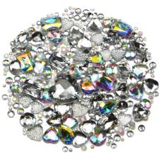 Mixed Pack of CLEAR ICE Gems and Diamante Embellishments